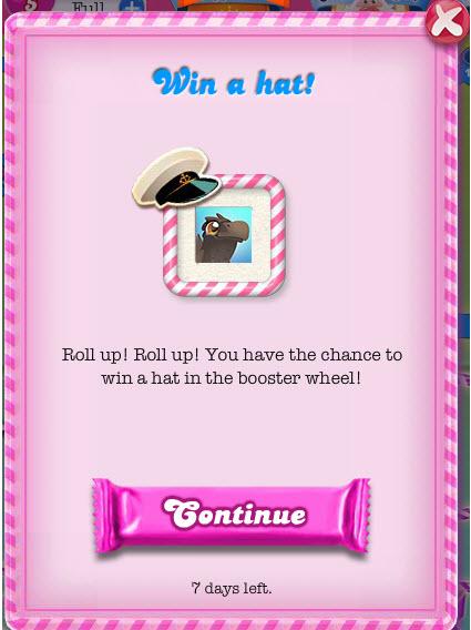 Casquette Candy Crush sur votre profil