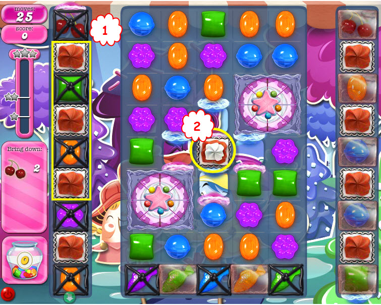 Candy Crush Saga niveau 1247 bis