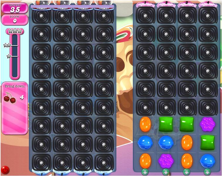 Candy Crush Saga niveau 1289 : comment faire passer les ingrédients d'un côté à l'autre