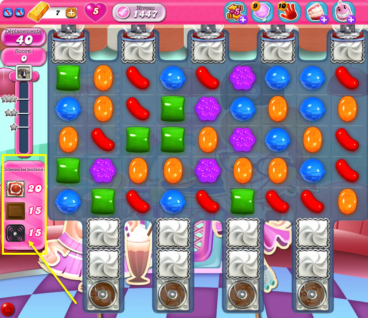Candy Crush niveau 1447