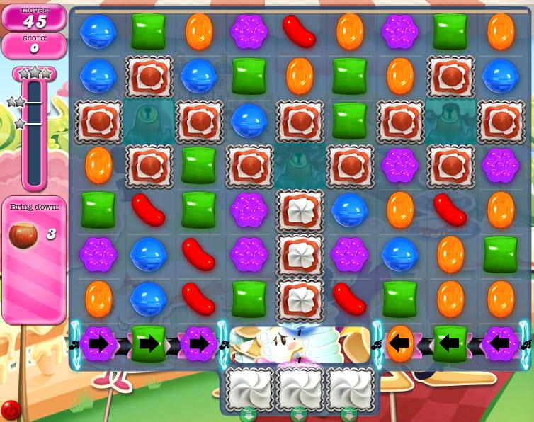 Explications du tableau du niveau 871 de Candy Crush Saga