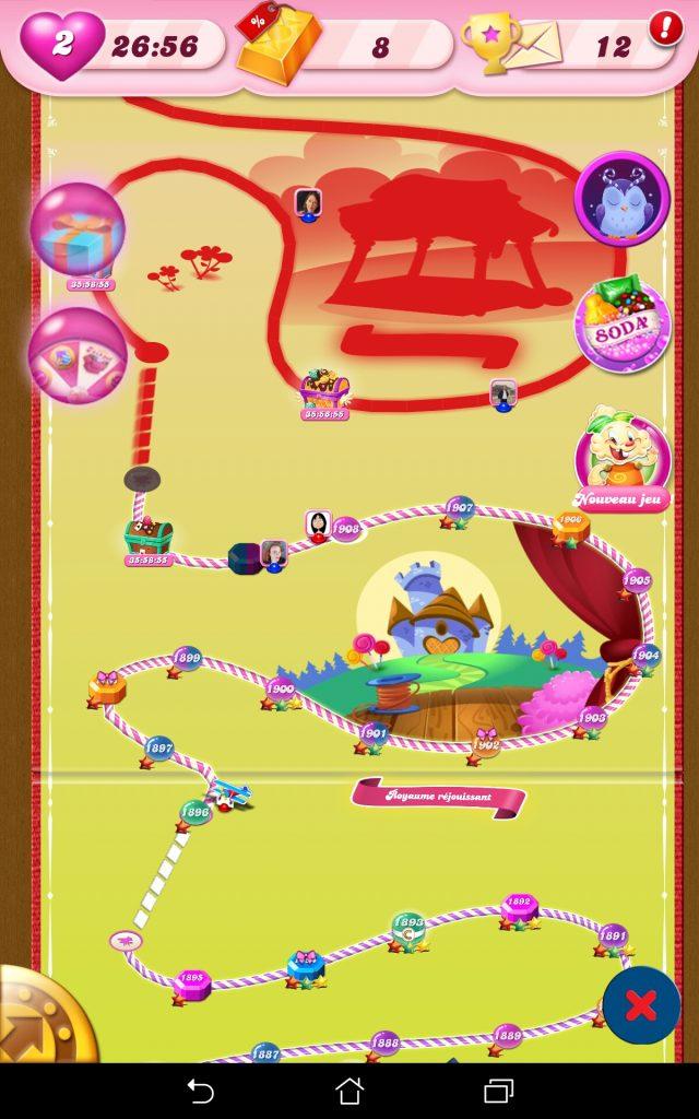Problème de synchronisation de Candy Crush Saga