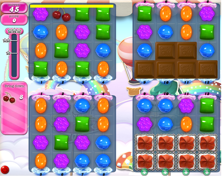Comment circulent les bonbons dans le niveau 428