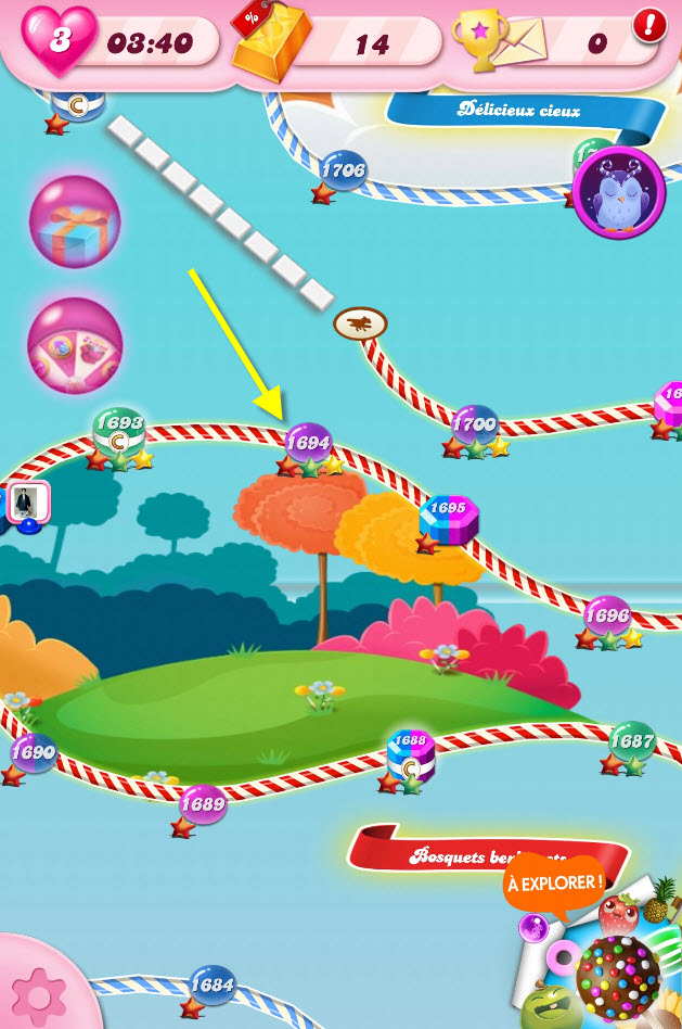 Candy Crush Saga niveau 1694