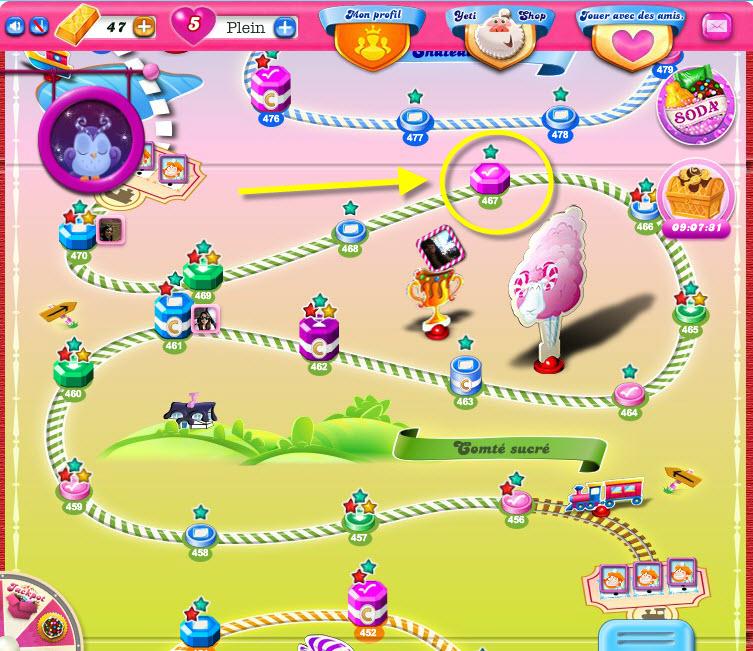 Candy Crush Saga Monde du Comté Sucré
