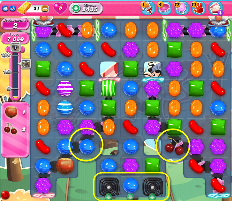 Comment passer le niveau 2435 de Candy Crush Saga