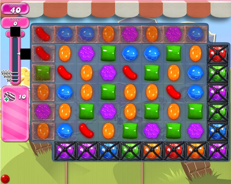 Candy Crush Saga niveau 1658
