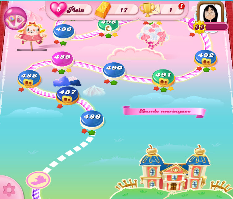 Candy Crush niveau 487