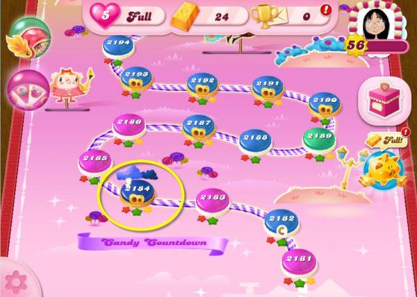 Candy Crush Saga niveau 2184