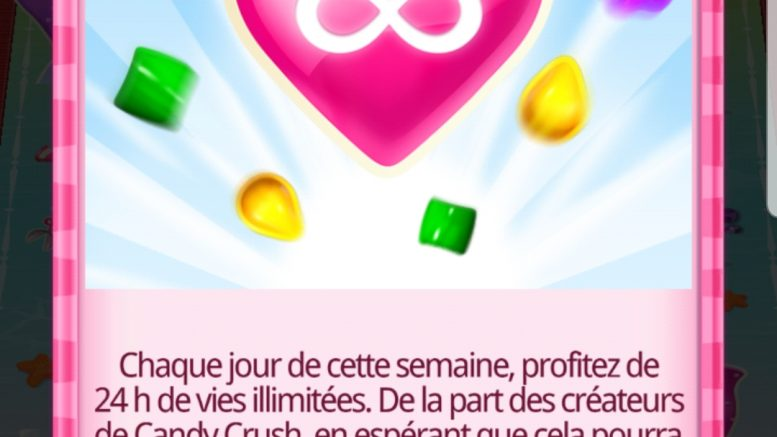 temps de jeu infini candy crush saga