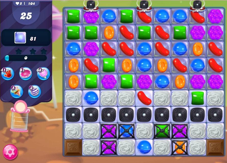 Candy Crush Saga niveau 104