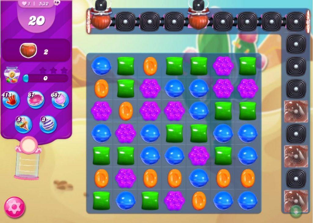 candy crush saga niveau 532