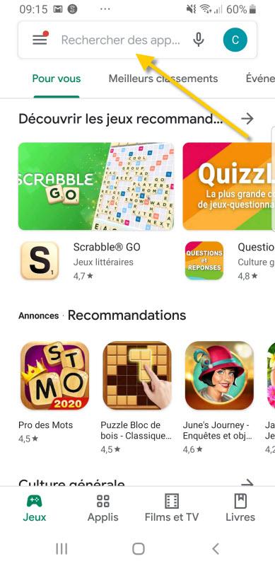Mettre à jour application dans le Play Store