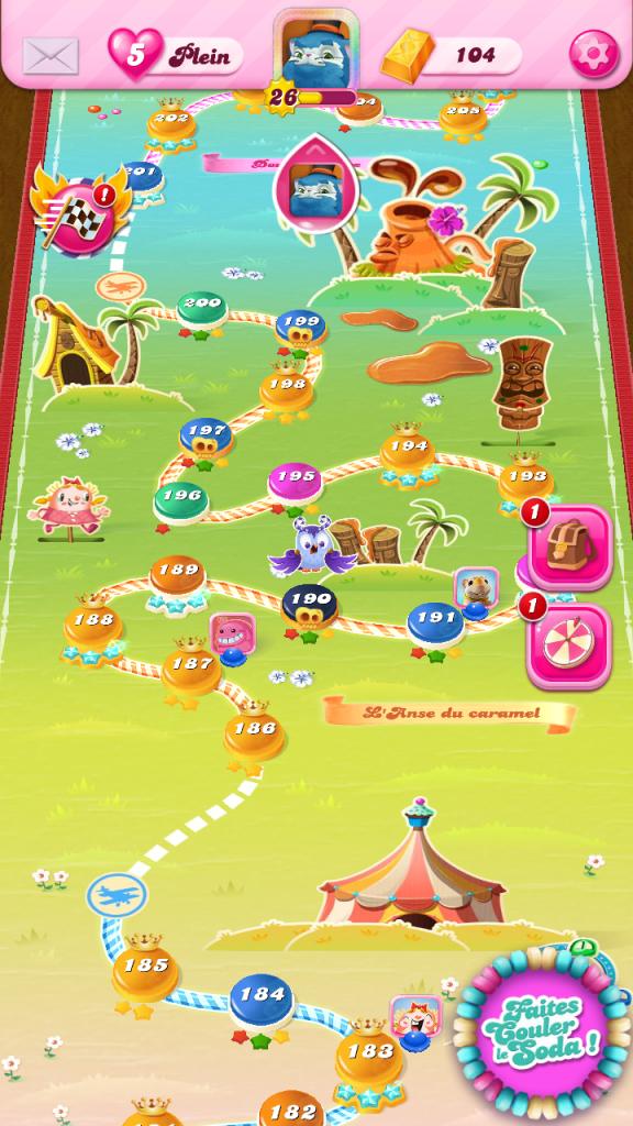 Monde Anse de Caramel de Candy Crush Saga
