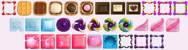 différents types de bloqueurs dans Candy Crush Saga