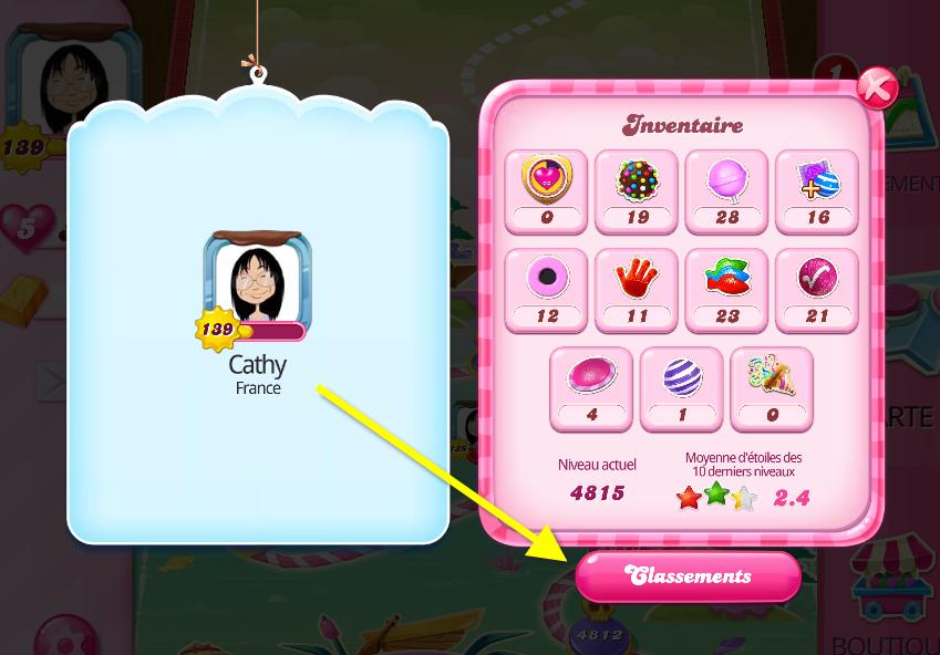 classement candy crush saga