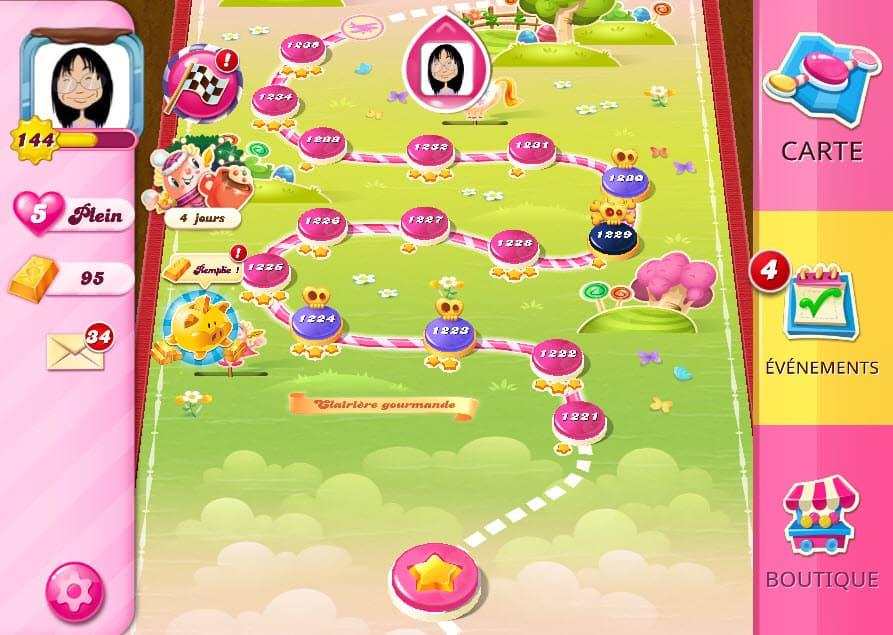 Candy Crush Saga niveau 1229 Clairière Gourmande