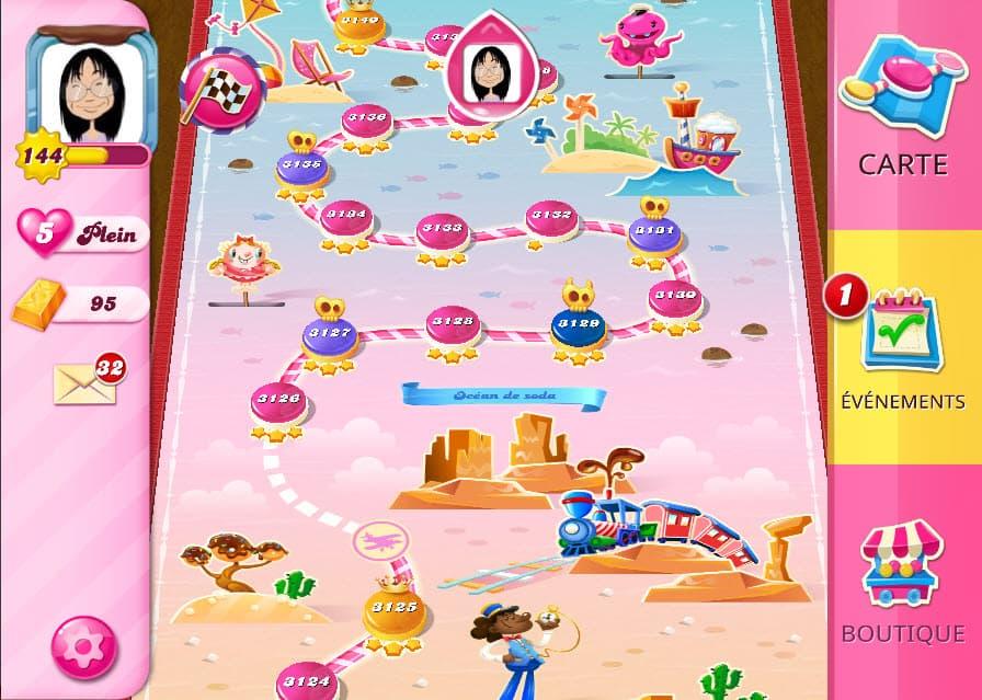 Candy Crush Saga niveau 3127 monde Océan de Soda