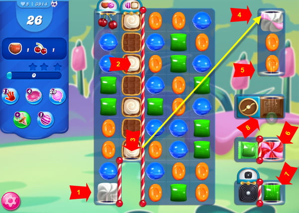solution candy crush niveau 3914