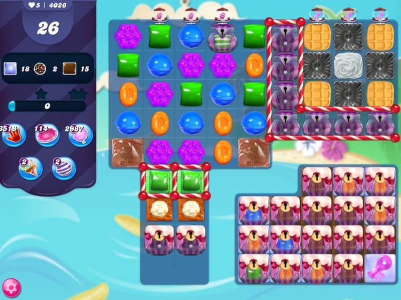 Niveau 4026 de Candy Crush Saga