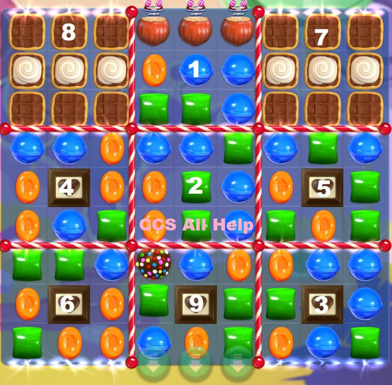 solution niveau 4252 candy crush